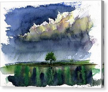 Storm On The Plain Canvas Print by John D Benson