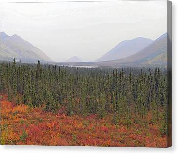Canvas Print featuring the photograph Storm Over Grayling Lake by Adam Owen