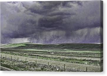 Storm Over Monida Pass  Canvas Print