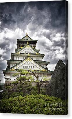 Storm Over Osaka Castle Canvas Print by Jane Rix