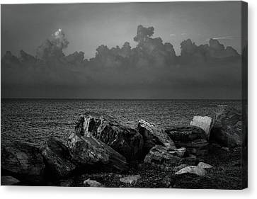 Storm Over Roda- Greece Canvas Print by Cambion Art