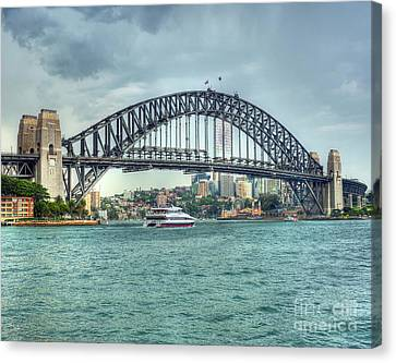 Storm Over Sydney Harbour Bridge Canvas Print