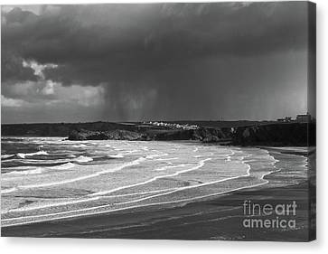 Canvas Print featuring the photograph Storm  Over The Bay by Nicholas Burningham
