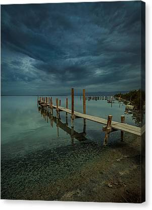 Storm Over The Dock Canvas Print
