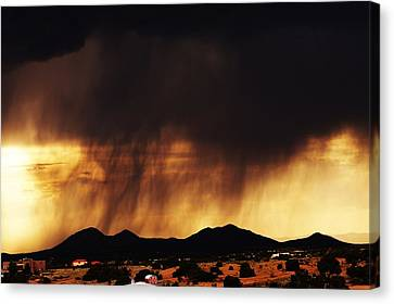 Storm Over The Mountains Canvas Print by Joseph Frank Baraba