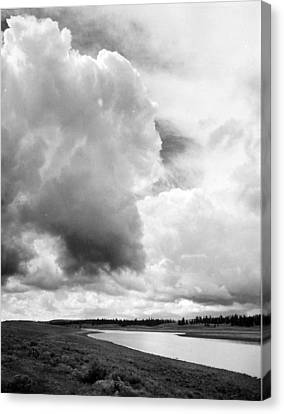 Storm Over The River Canvas Print