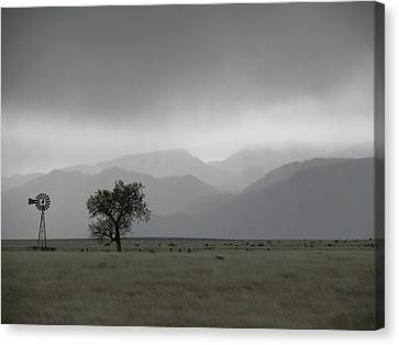 Storm Over The Rockies Canvas Print