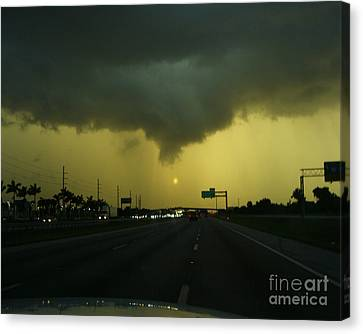 Canvas Print featuring the photograph Storm Overhead by Merton Allen