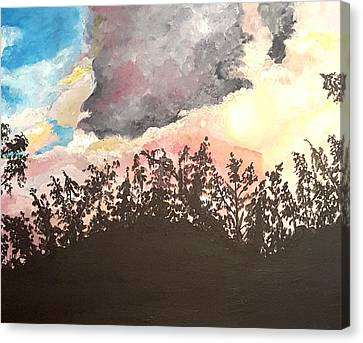 Storm Passing Through Canvas Print