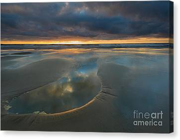 Storm Pool Canvas Print by Mike Dawson