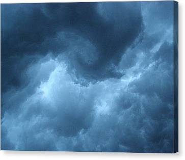 Canvas Print featuring the photograph Storm Rolling In by Angie Rea
