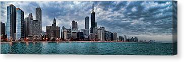 Chicago Skyline Canvas Print - Storm Rolling In by Jeff Lewis