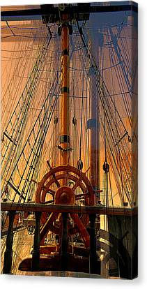 Canvas Print featuring the photograph Storm Ship Of Old by Lori Seaman