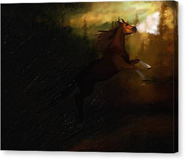 Storm Spooked Canvas Print by Angela A Stanton
