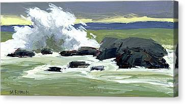 Storm Surf Canvas Print by Mary Byrom