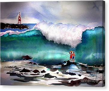 Storm Surf Moment Canvas Print