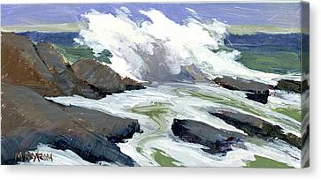 Storm Surge Canvas Print by Mary Byrom