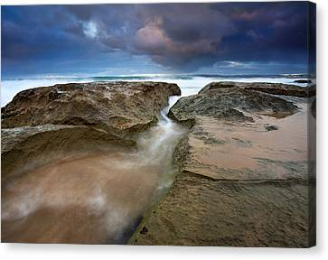 Storm Surge Canvas Print by Mike  Dawson