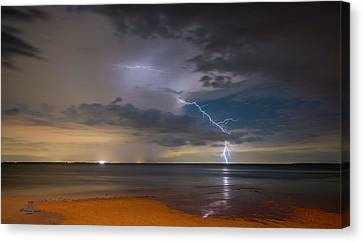 Lightening Canvas Print - Storm Tension by Marvin Spates