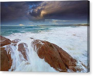 Storm Tides Canvas Print by Mike Dawson