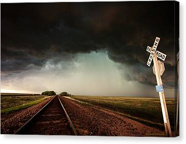 The Last Train To Darksville Canvas Print by Brian Gustafson