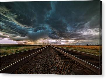 Storm Tracks Canvas Print by Darren  White