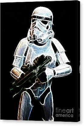 Storm Trooper Canvas Print by Paul Ward