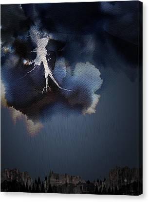 Thunder Canvas Print - Storm by Varpu Kronholm