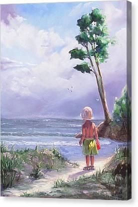 Storm Watching Canvas Print by Laura Lee Zanghetti