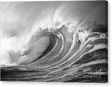 Storm Wave - Bw Canvas Print by Ron Dahlquist - Printscapes
