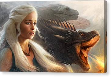 Canvas Print featuring the digital art Stormborn by Steve Goad