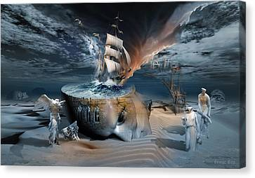 Clippers Canvas Print - Stormbringer by George Grie