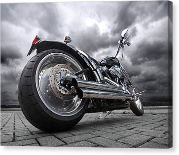Storming Harley Canvas Print by Gill Billington