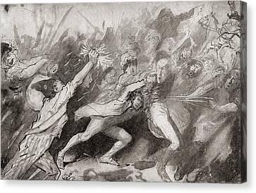Storming Of The Bastille, Paris, France Canvas Print