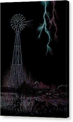 Storms Along The Rylander Spread Canvas Print by The Stone Age