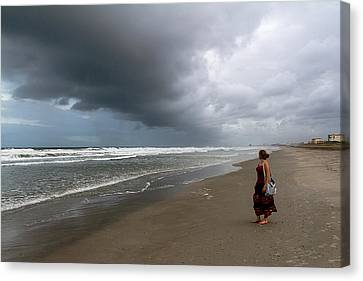 Canvas Print featuring the photograph Storm's Coming by Ron Dubin