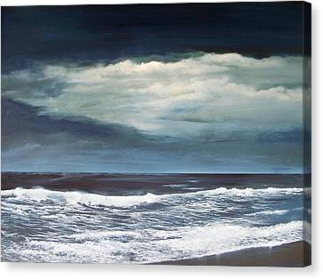 Canvas Print featuring the painting Storms Never Last by Ken Ahlering