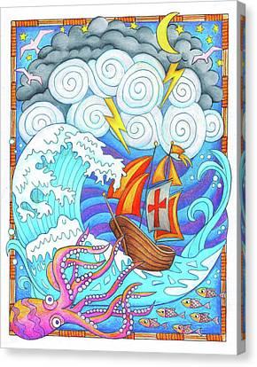Storms Of Life Canvas Print by Jennifer Allison