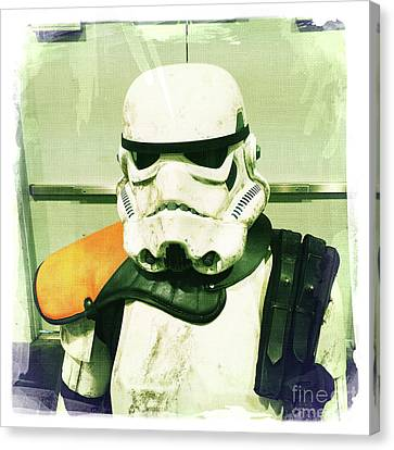 Stormtrooper 2 Canvas Print by Nina Prommer