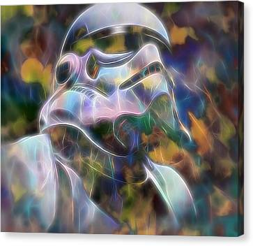 Stormtrooper Canvas Print by Dan Sproul