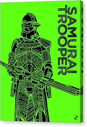 Stormtrooper - Green - Star Wars Art Canvas Print