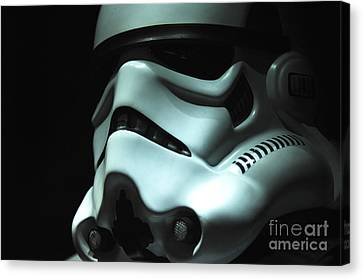 Stormtrooper Helmet Canvas Print by Micah May