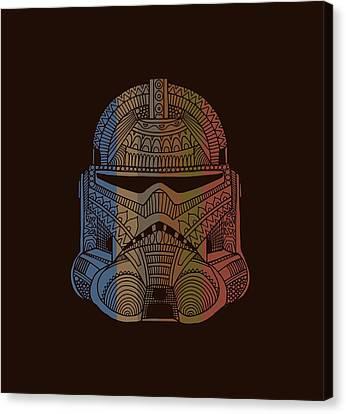Stormtrooper Helmet - Star Wars Art - Colorful Canvas Print