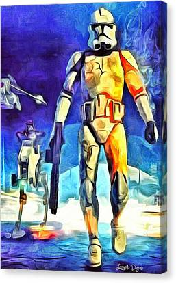 Stormtrooper Canvas Print by Leonardo Digenio
