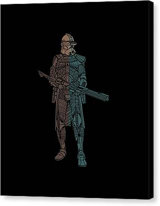 Stormtrooper Samurai - Star Wars Art - Minimal Canvas Print
