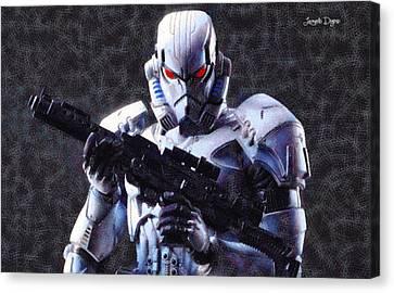 Stormtrooper Terminator - Pa Canvas Print