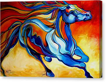 Stormy An Equine Abstract Southwest Canvas Print by Marcia Baldwin