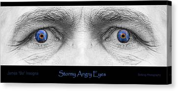 Stormy Angry Eyes Poster Print Canvas Print by James BO  Insogna