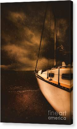 Stormy Artistic Portrait Of A Yacht Canvas Print by Jorgo Photography - Wall Art Gallery