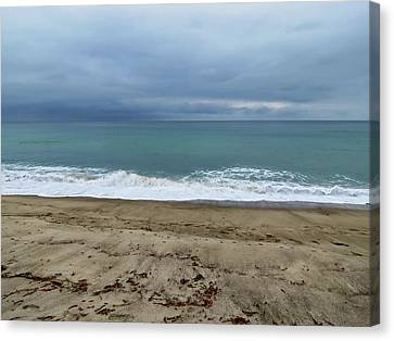 Stormy Beach Canvas Print by Connor Beekman